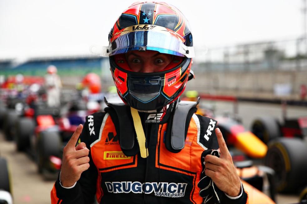 Felipe Drugovich conquista primeira pole position na Fórmula 2, em Silverstone