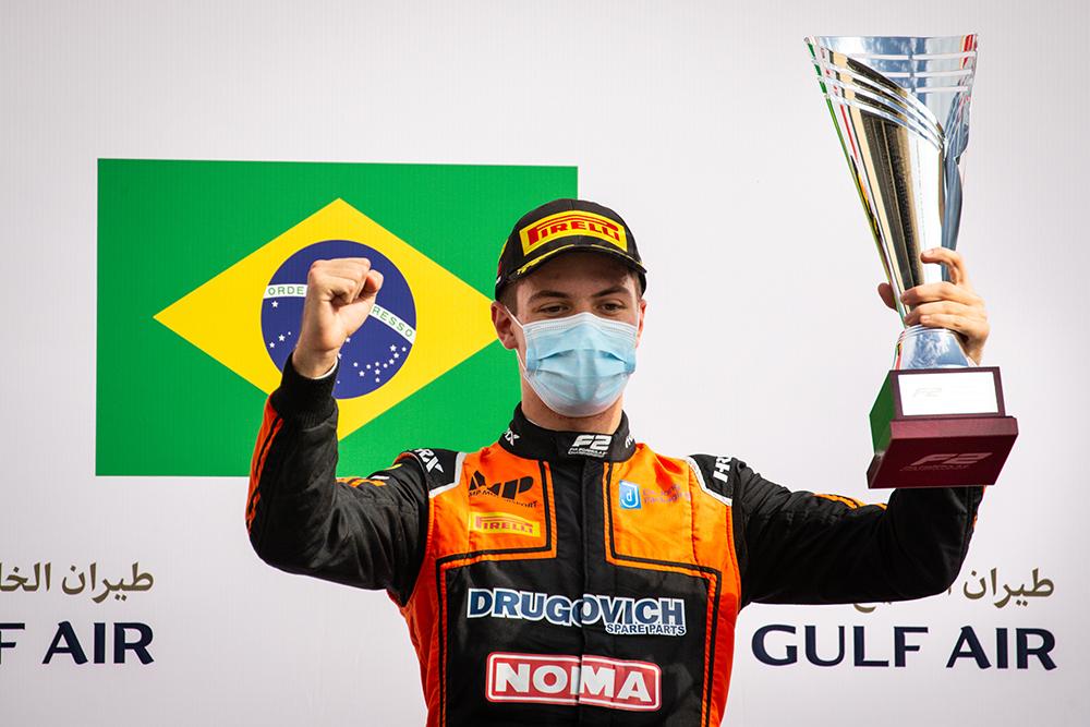 Felipe Drugovich venceu no Bahrein e é um dos pilotos com mais vitórias em sua temporada de estreia na Fórmula 2